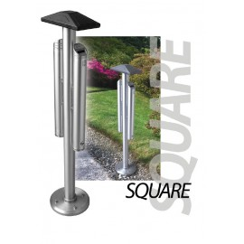 SQUARE double sided floor standing ashtray